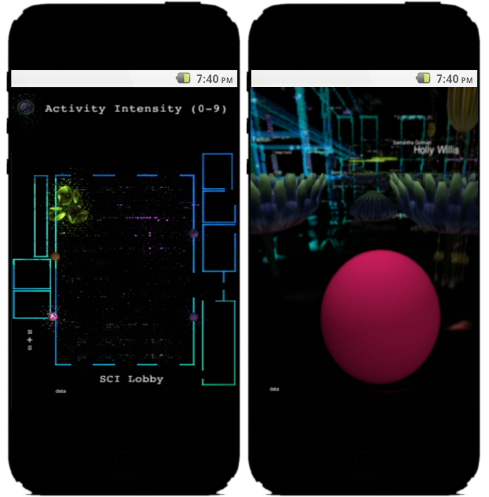 Individual App Top Down Map (L) and 1st Person POV (R)
