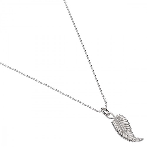 When you want to step out in style, this sweet necklace carries you anywhere with effortless elegance. Handcrafted from sterling silver, our artisans have sculpted exquisite detail into the leaf that symbolises happiness and joy. Add the Frond bracelet and earrings to create a beautiful, stirring look. sterling silver 35mm leaf pendant 45cm long - $79