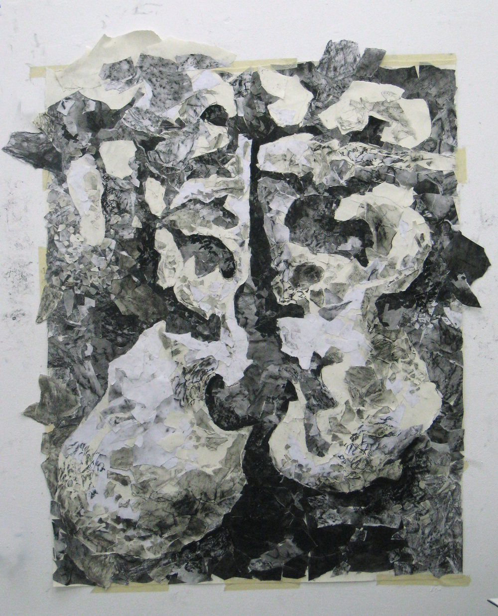 Burren Floor 2010 30x40  paper and charcoal collage
