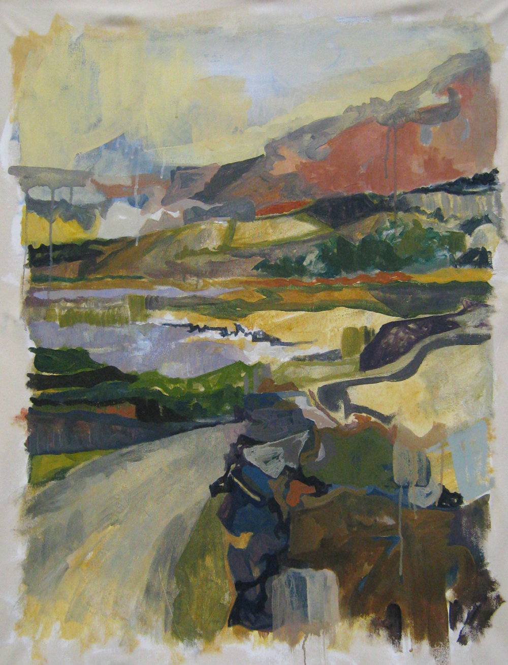 Burren Landscape  2010 20x30  acrylic on canvas
