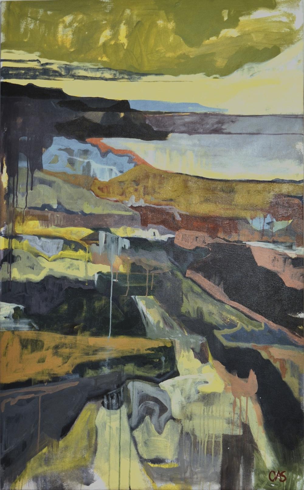 Burren Landscape  2010 20x30 acrylic on canvas