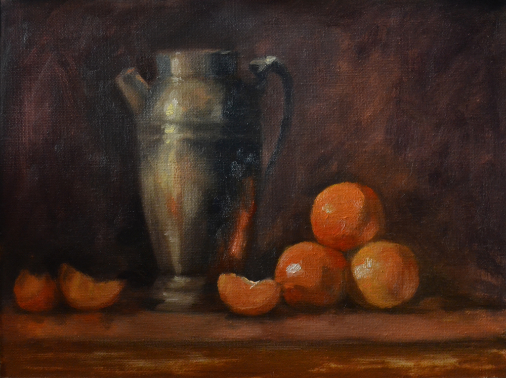 Still Life with Clementines, 2  2015 8x10 oil on canvas