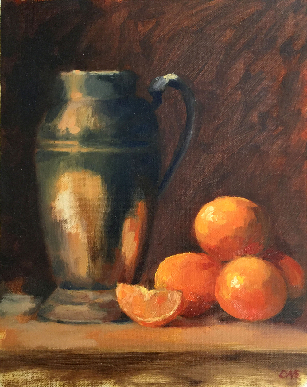 Still Life with Clementines  2015 8x10 oil on canvas