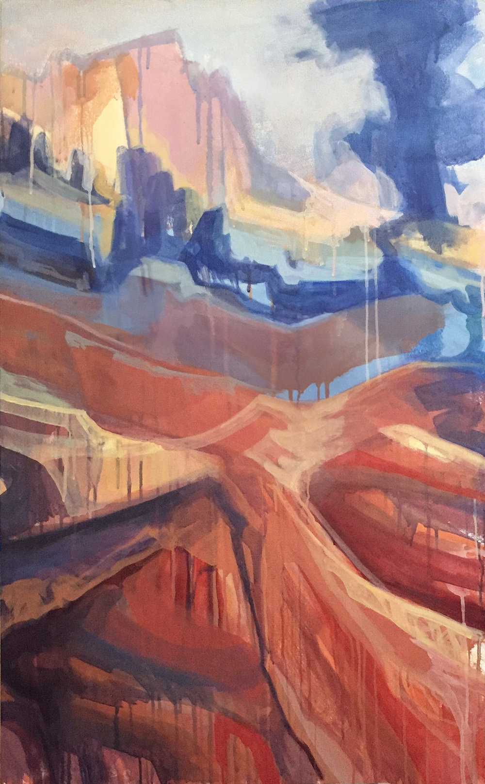 Canyon  2017 30x40 acrylic on canvas