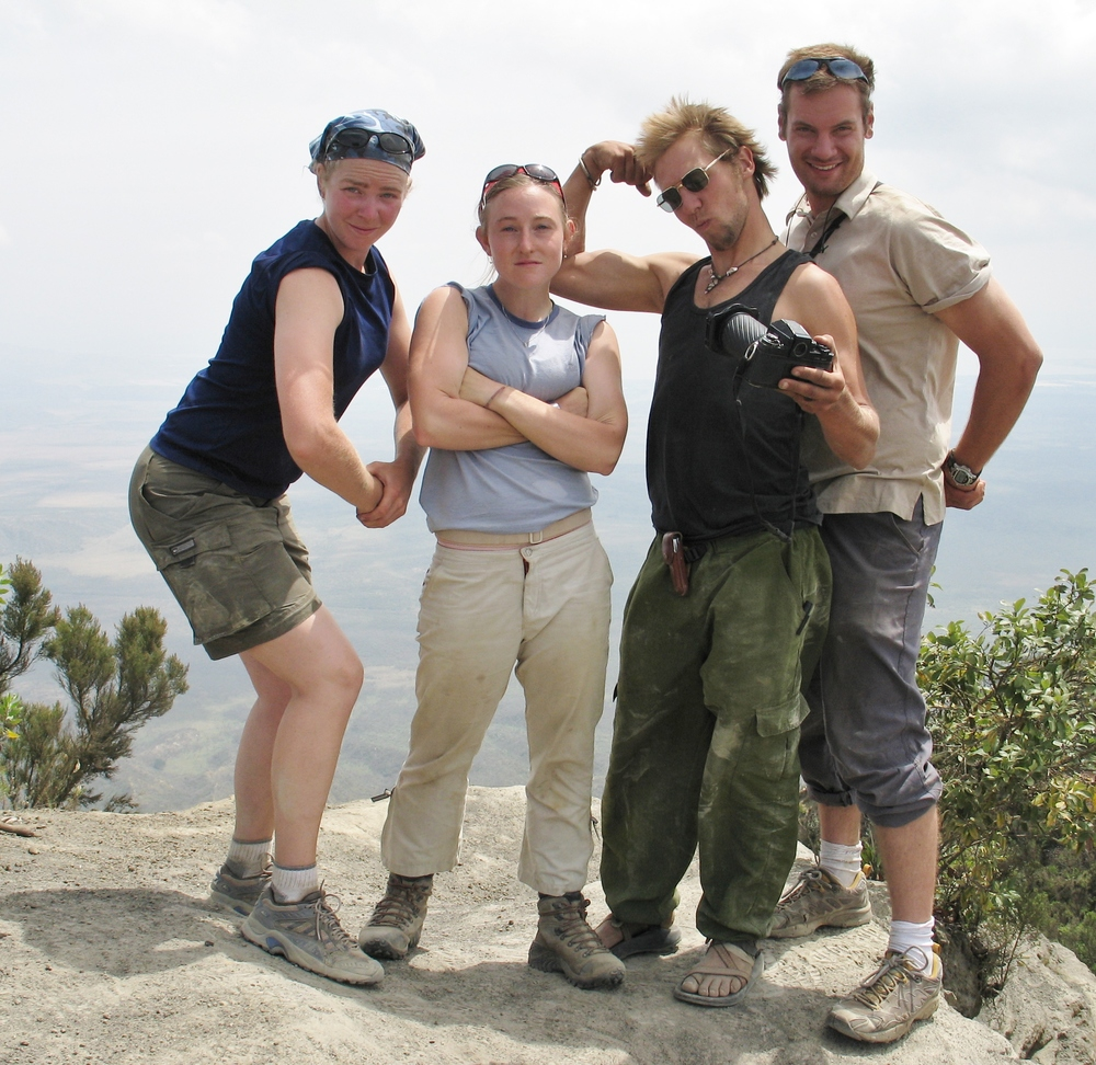 Ben, on the far right.  In E. Africa, being silly.