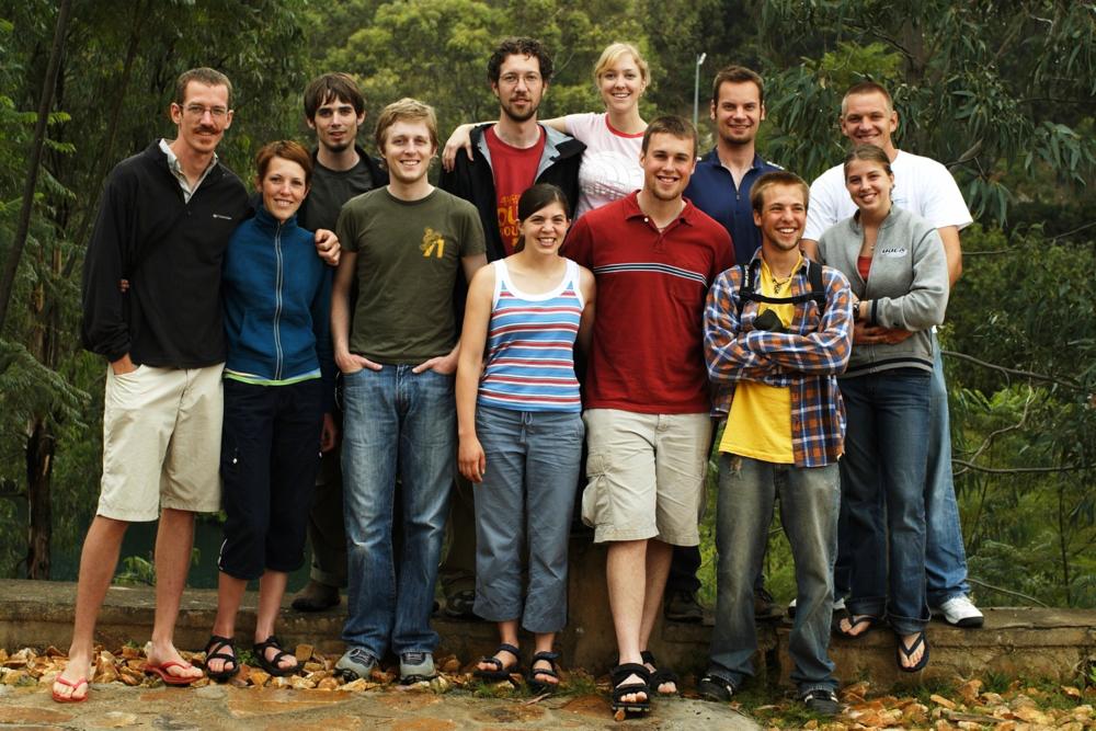 Hope Rises film crew. Ben back row, second right.