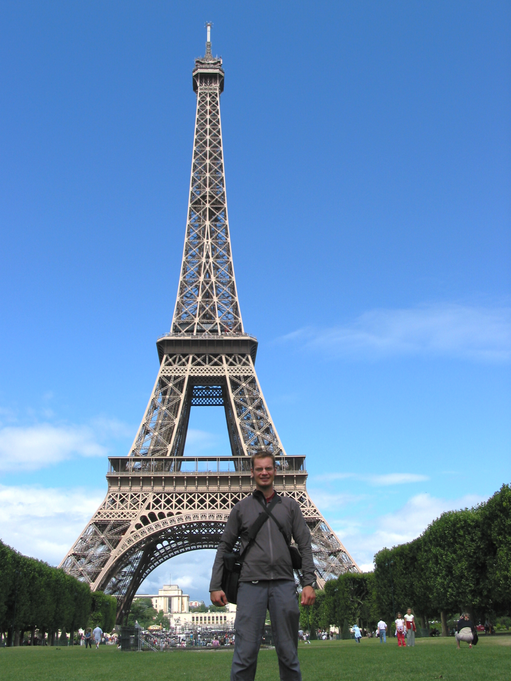Ben at the Eiffel Tower, Paris