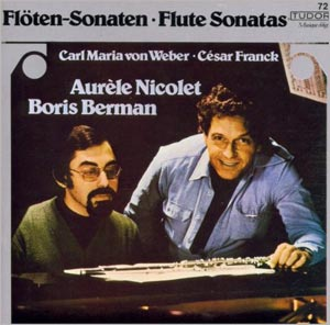 Franck: Sonata for Flute and Piano von Weber: Sonata for Flute and Piano, with Auréle Nicolet