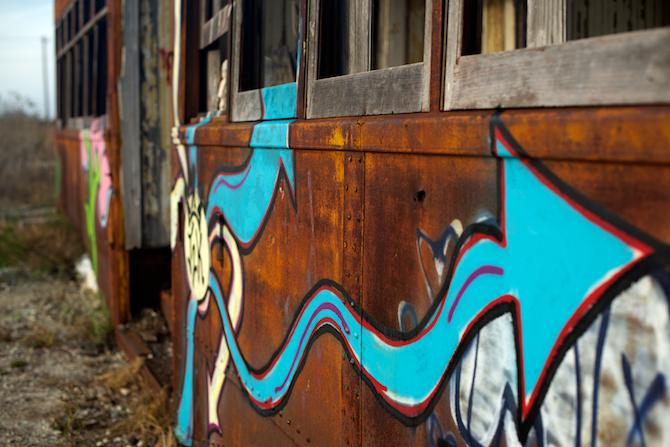 Abandoned Trolly Cars, Charleston SC