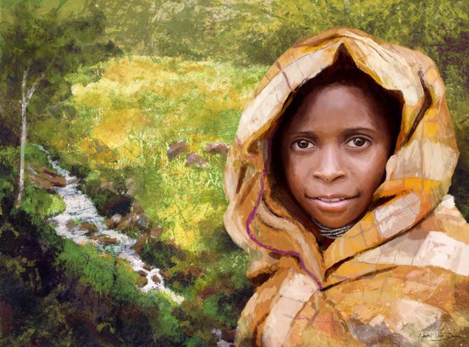 Highland Girl Langda Village | NaomiVanDoren.com