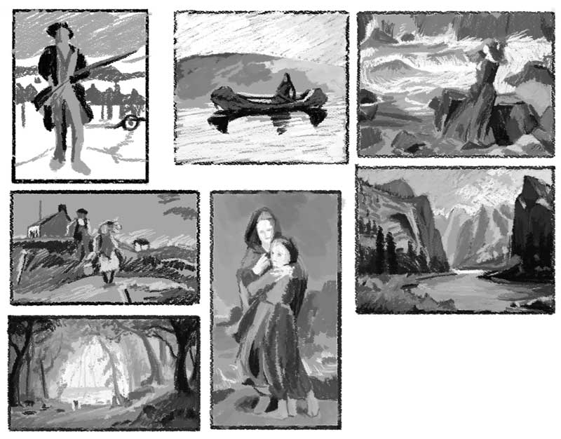 Value studies from masterworks.