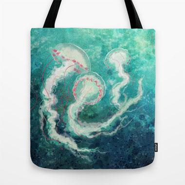 Society6 custom tote fabric bag review | NaomiVanDoren.com