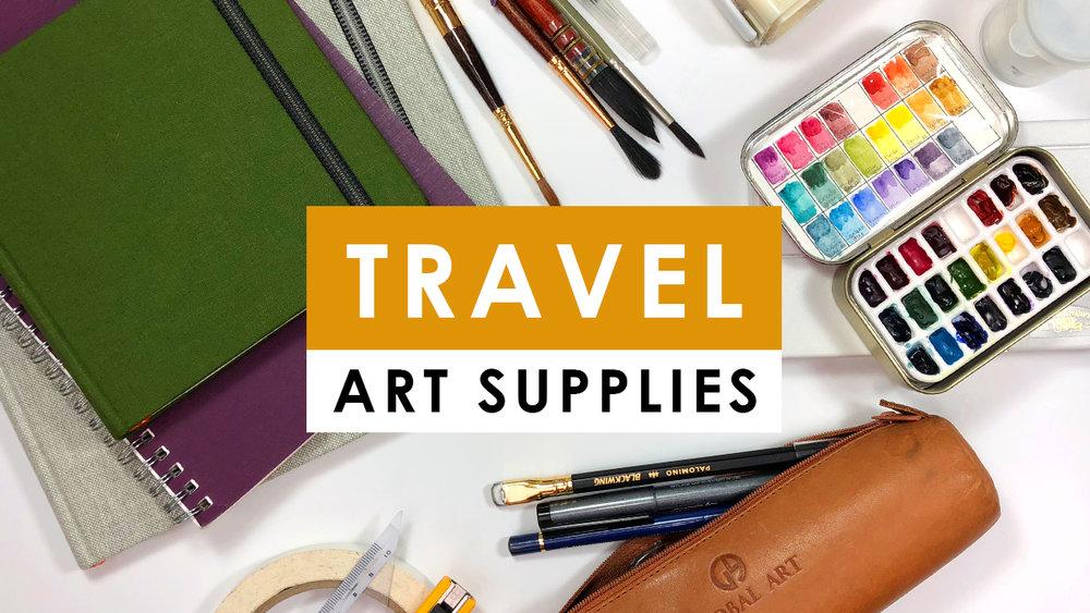 my favorite travel art supplies naomi vandoren