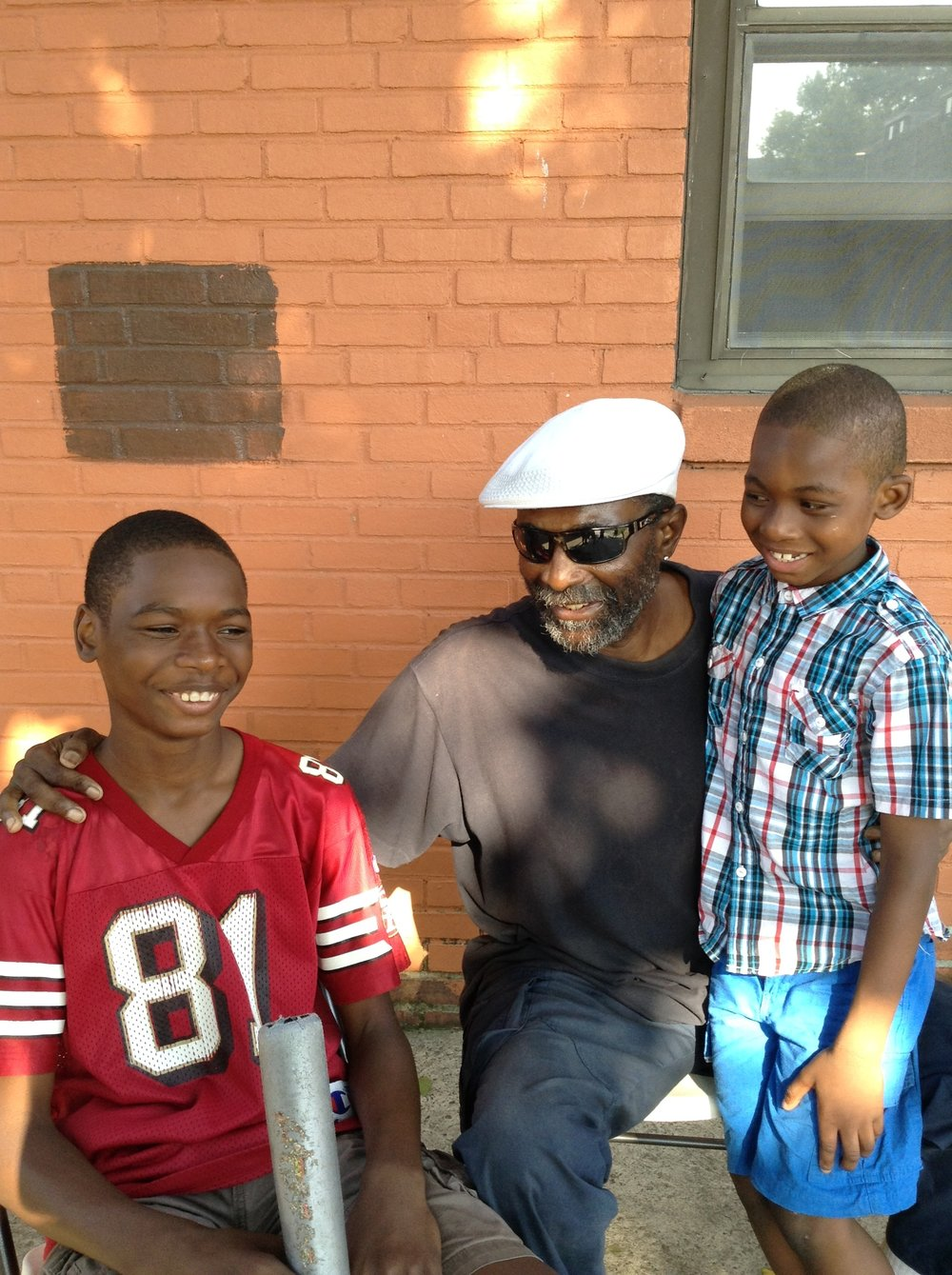 Left to Right.  Angel Williams, Savion's father (RIP), Savion Williams