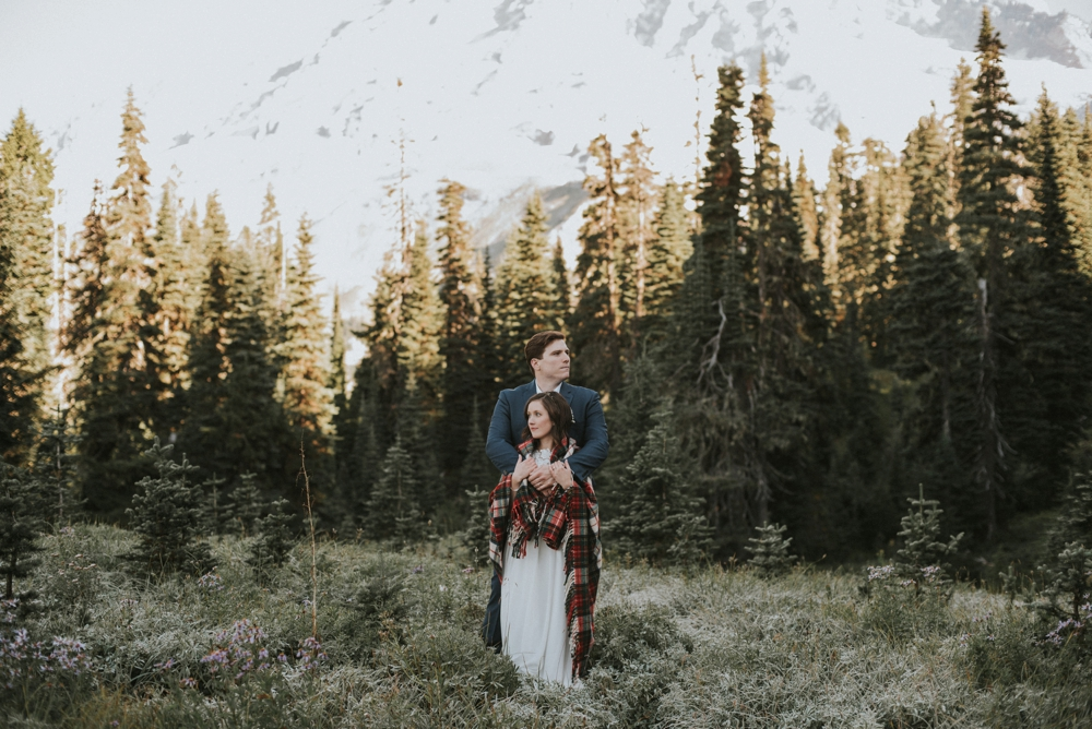 elopement on mount rainier