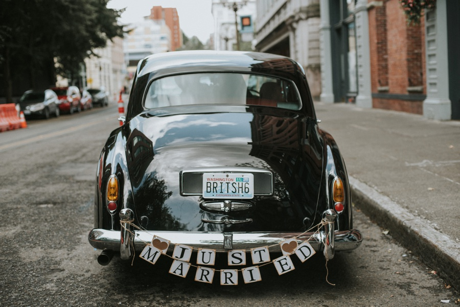 classic car for elopement