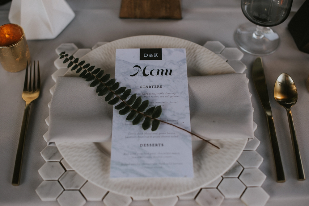 wedding day menu