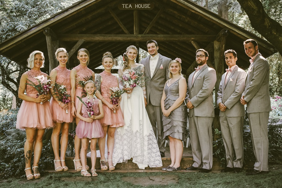 Bridal party at the Jenkins Estate