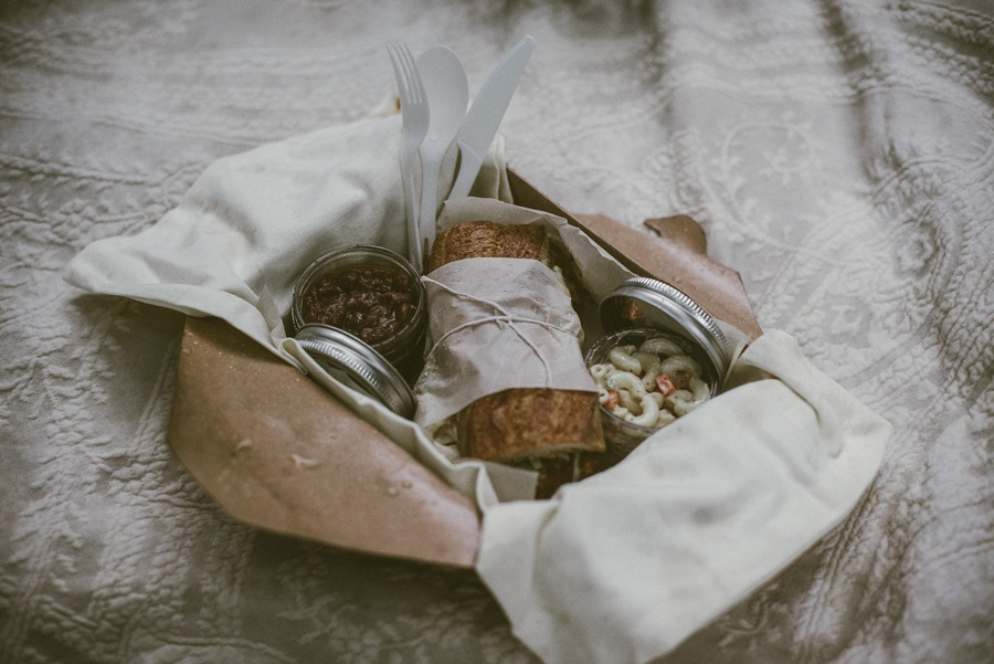 picnic boxes for a pacific northwest elopement
