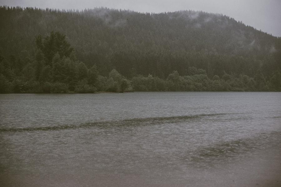 rain at rattlesnake lake