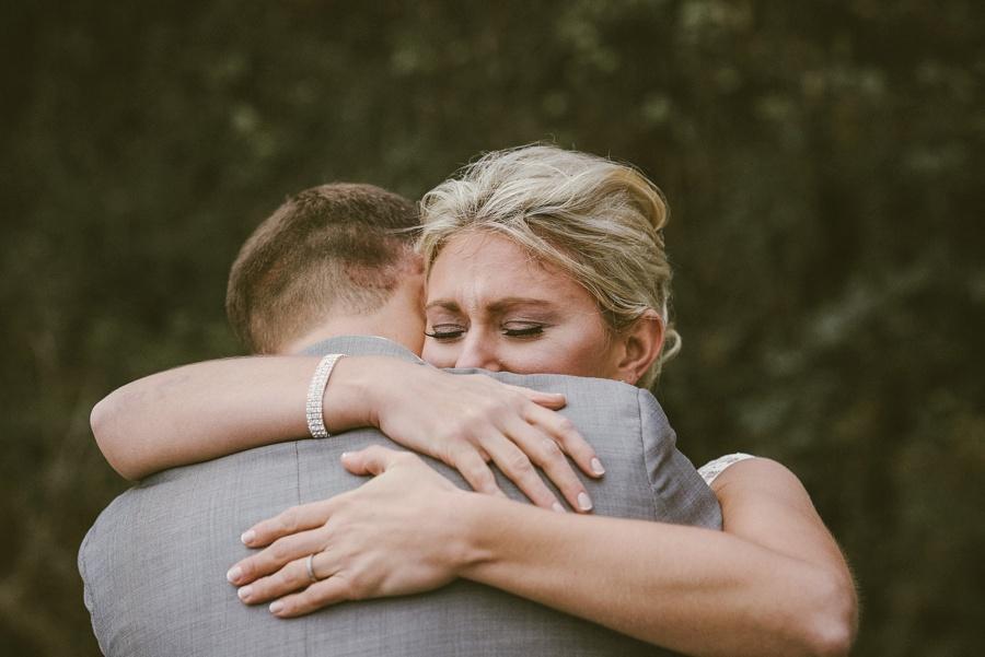 emotional portrait of seattle bride
