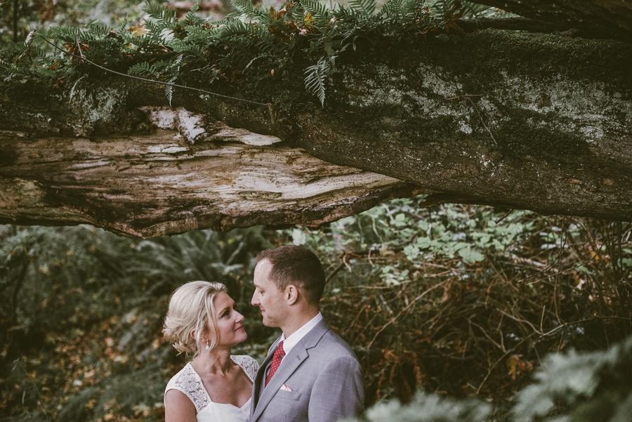 elopement in the woods seattle elopement photographer