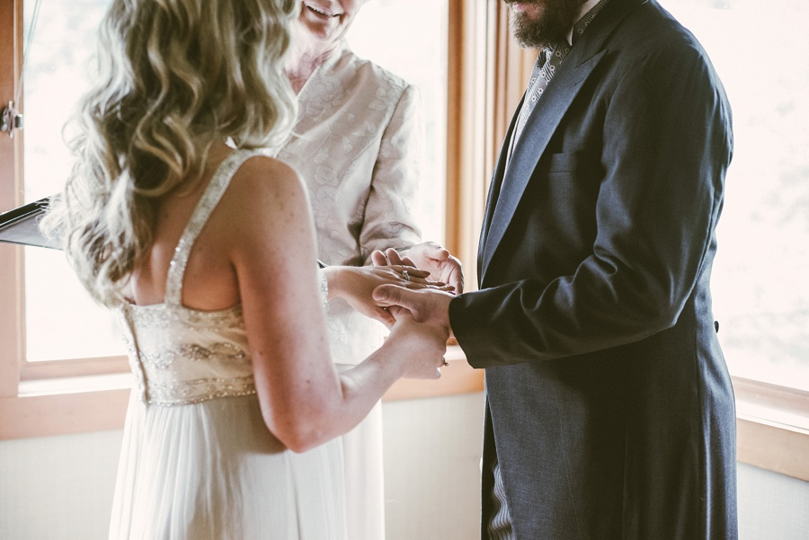 elopement ceremony with a heavenly ceremony