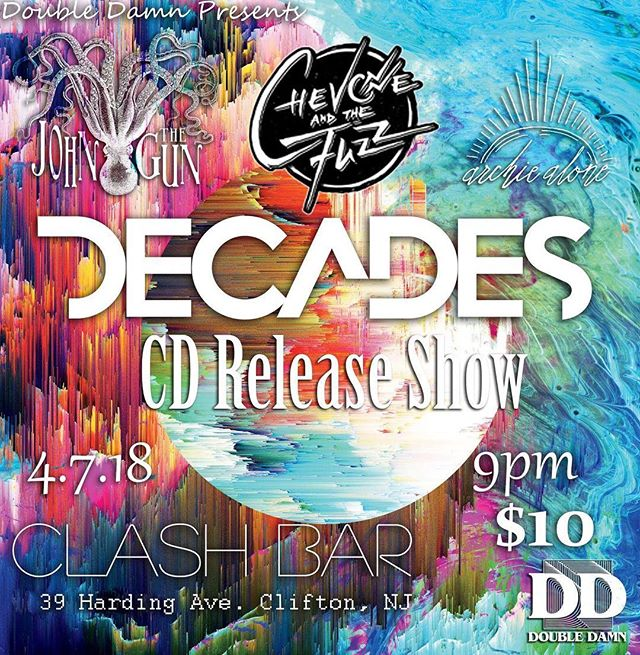 As promised... #STOKED to be supporting @decadesmusic at their EP release show at our favorite venue ever, @clash_bar on 4/7. #Homegrown baby. Muy caliente🌶 •••••••••••••••••••••••••••••• #johnthegun #NJ #clifton #decades #newjersey #eastvillage #clashbar #thefuzz #april #springtime #saturday #harmony #shows #posthardcore #weekend #bands #livemusic #fenderguitars #laneyamps #orangeamps #darkhorsepercussion #prog #indie #rock #treadeternal #yourgrace #dern