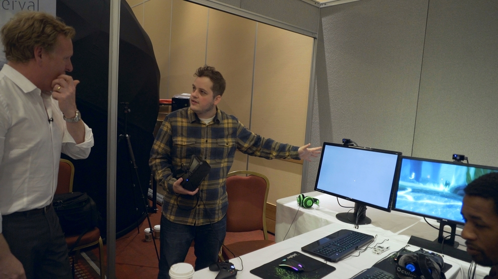 Setting up one of the 400+ VR user tests I've conducted- this one with the BBC in Bristol, UK