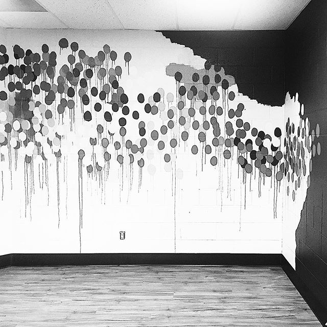 Finished my mural for the  DFAD #designforadifference #designforadifferencemadison project - ready for furniture and excited for the reveal next weekend at the @eastmadcc ! ❤️