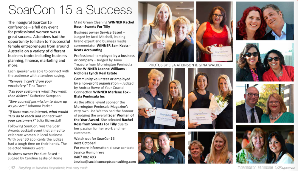 Mornington Peninsula Magazine December SoarCon15 article.png