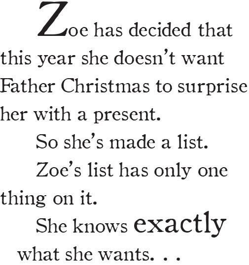 ZCL Blurb  Christmas List Format