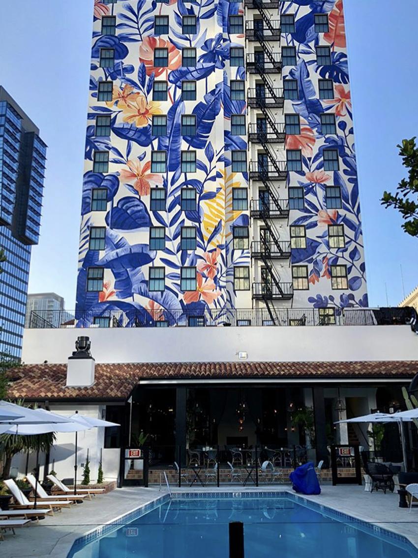 Hotel Figueroa Mural by Bella Gomez