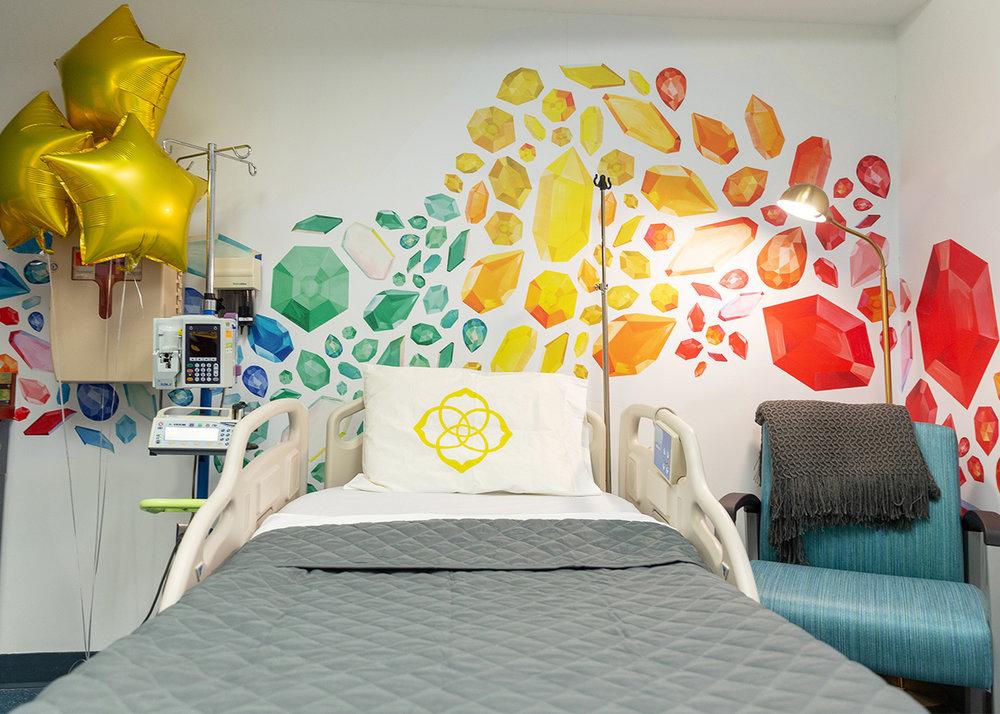 Bella Gomez // Kendra Cares Mural at Dell Children's Centre