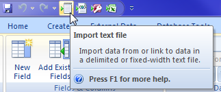 ms-access-import-text-file