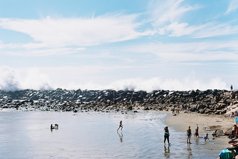 Waves Morro Rock California Analogue Travel Photographer