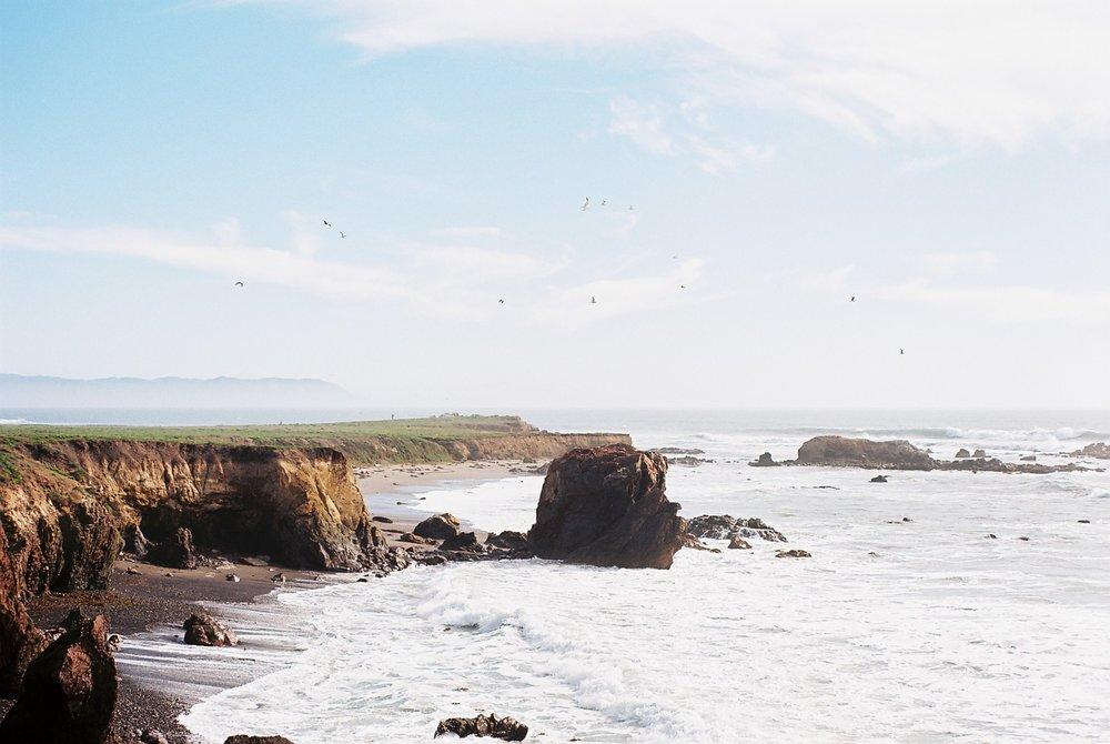 Cliffs 2 Highway 1 California Analogue Travel Photographer