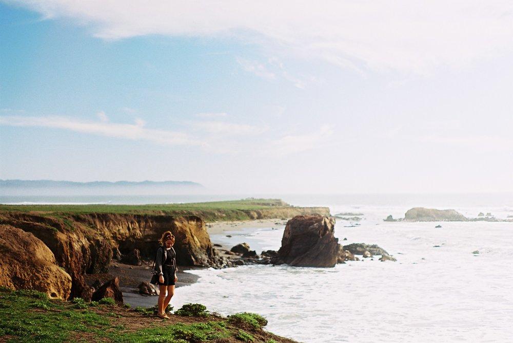 Izzy Cliffs Highway 1 California Analogue Travel Photographer