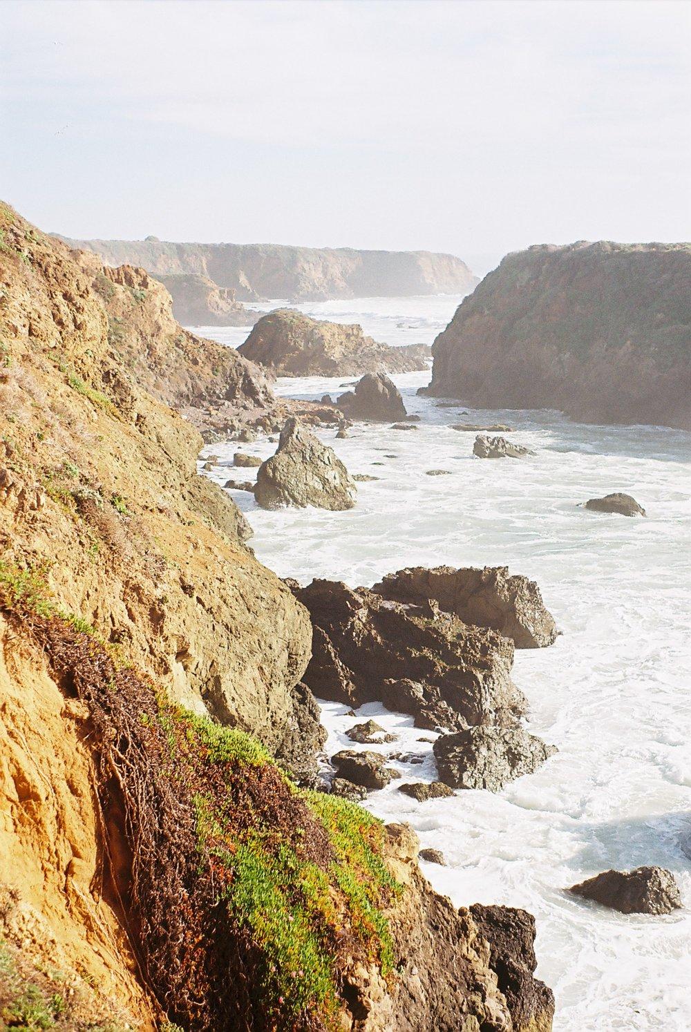 Cliffs 4 Highway 1 California Analogue Travel Photographer