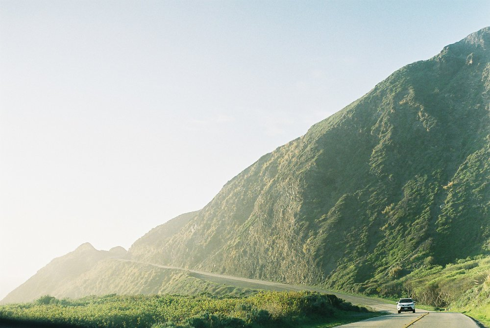 On the road Highway 1 California Analogue Travel Photographer