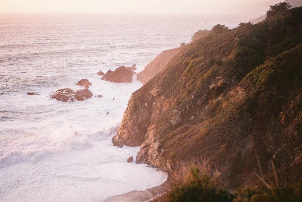 2 Cliffs Highway 1 California Analogue Travel Photographer