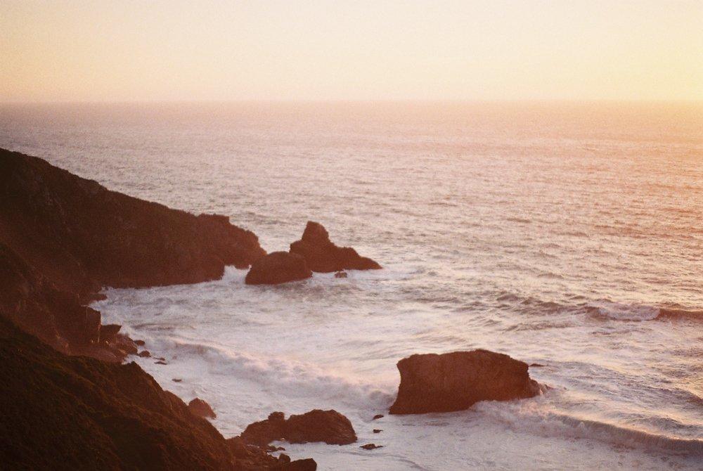 Rocks Highway 1 California Analogue Travel Photographer
