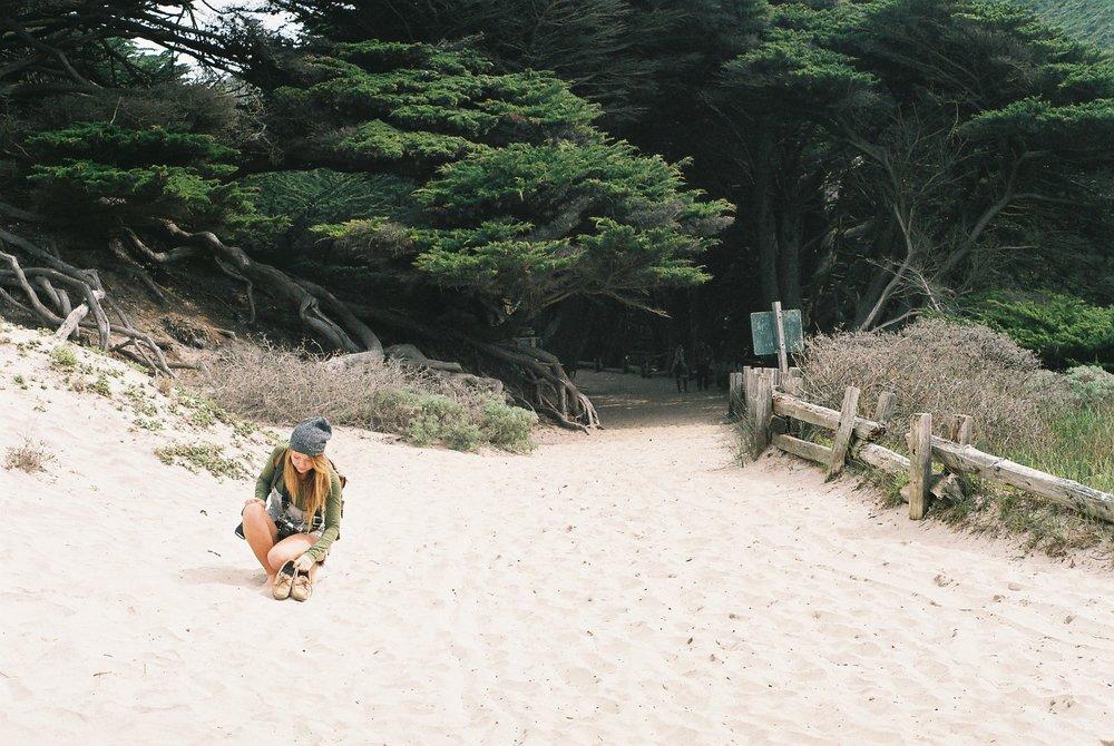 Barefoot Pfeiffer Beach California Analogue Travel Photographer