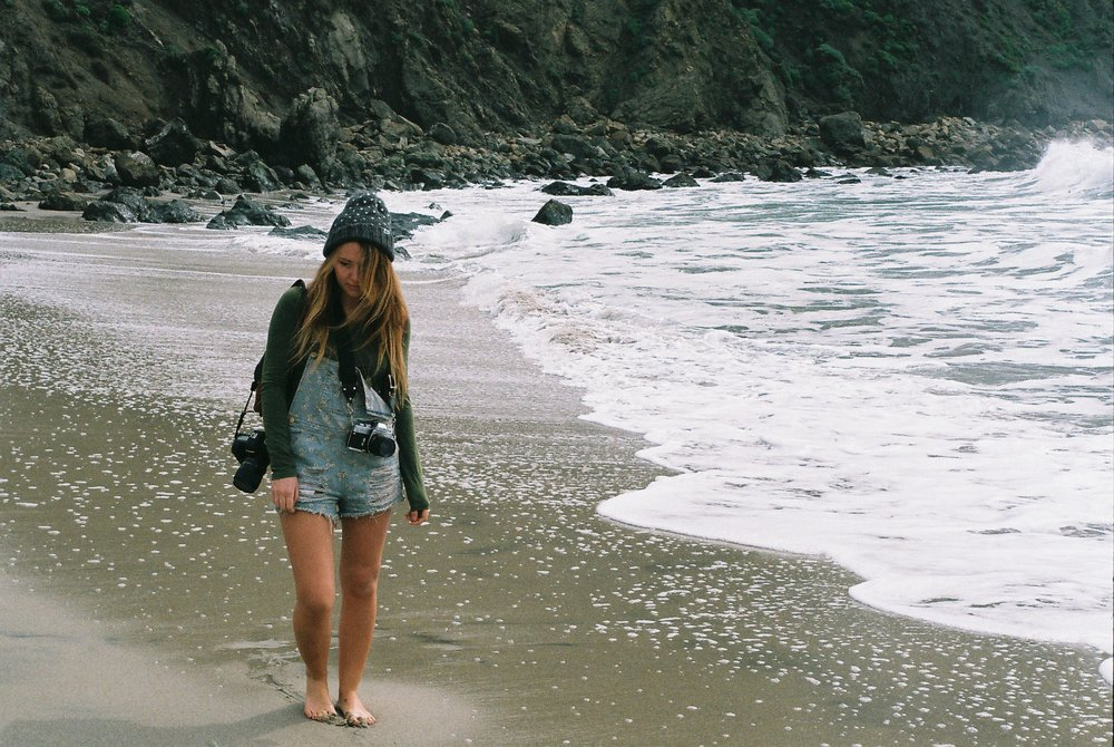 Izzy Portrait Pfeiffer Beach California Analogue Travel Photographer