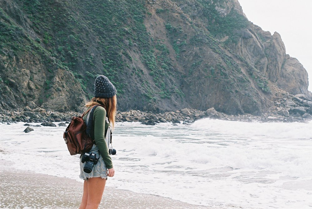 2 Izzy Portrait Pfeiffer Beach California Analogue Travel Photographer