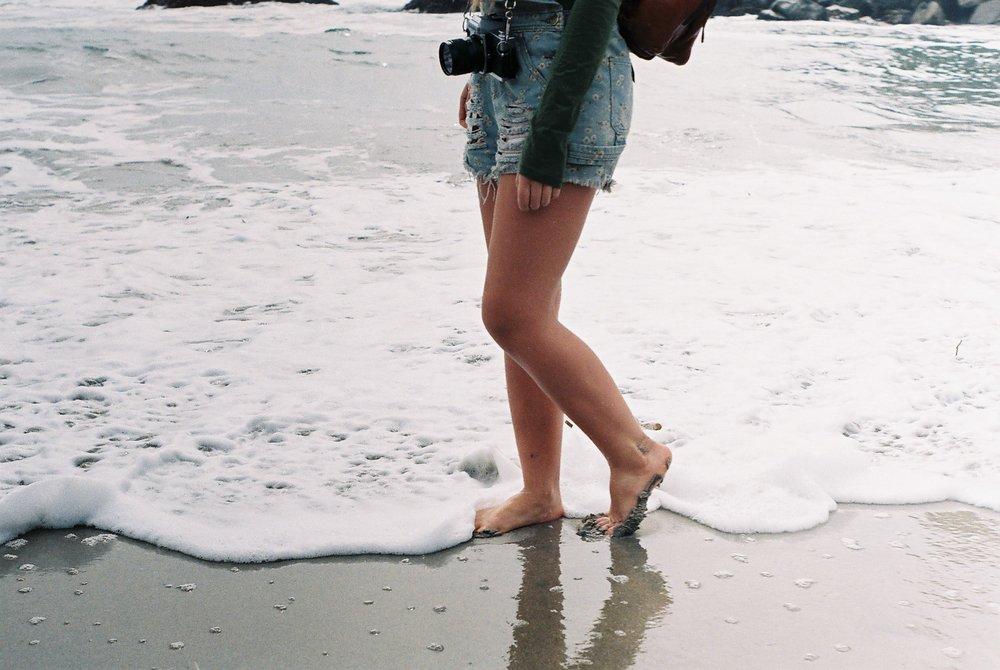 4 Izzy Portrait Pfeiffer Beach California Analogue Travel Photographer