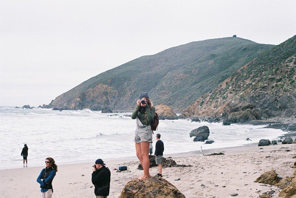 8 Izzy Portrait Pfeiffer Beach California Analogue Travel Photographer