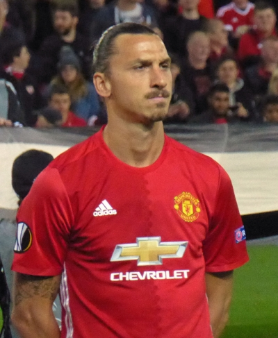 Zlatan also drowning in elation.