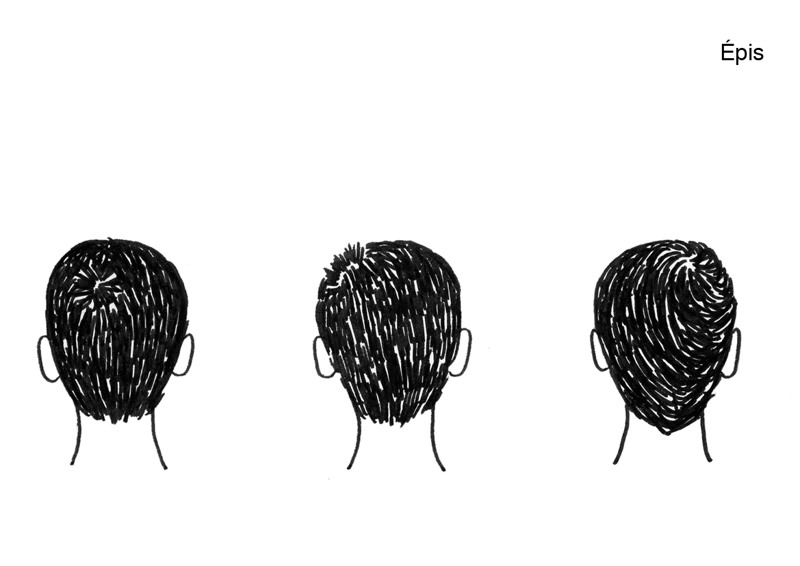 (Linnea cut my hair today) Drawing by Manon.