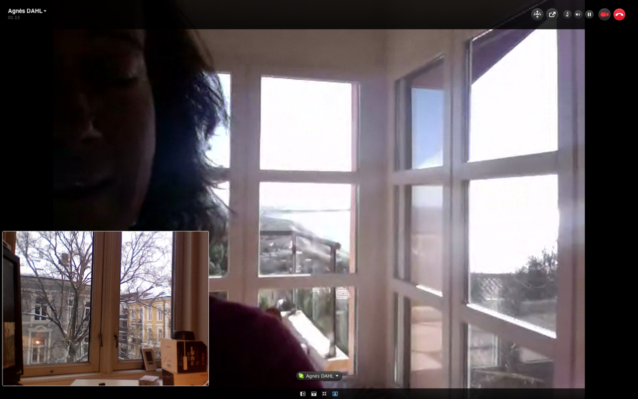 Just had a nice talk with my parents on Skype. They're at the beachhouse in Leucate, France wearing shorts and T-shirts, I'm in Oslo, Norway with minus degrees and a cold.
